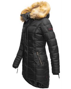 Dame Vinter dun jakke Papaya - Sort