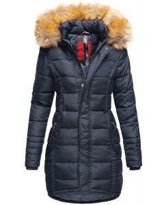 Dame Vinter dun jakke Papaya - Navy