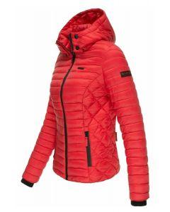 Dame let dun jakke Navahoo Samtphote i Rød