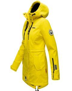Flot Softshell outdoor jakke i Gul