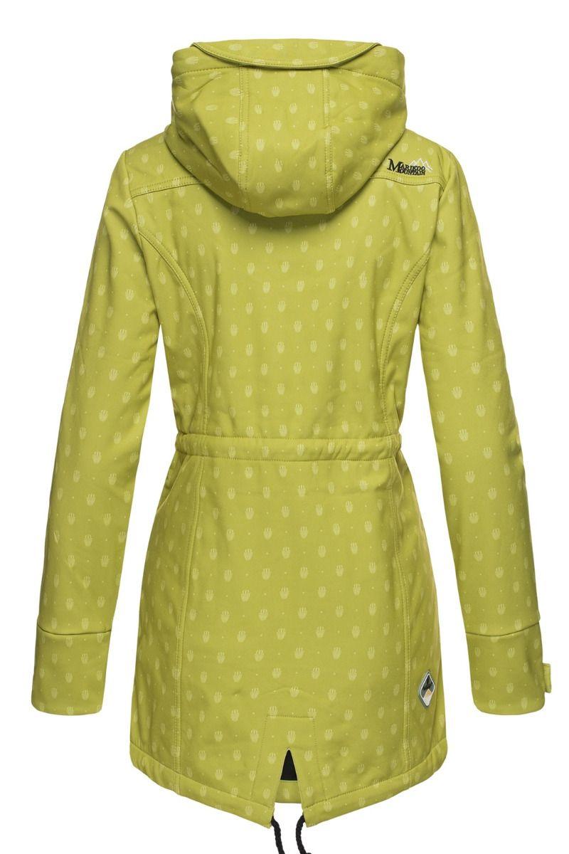 Flot Softshell outdoor jakke i Grøn Dot