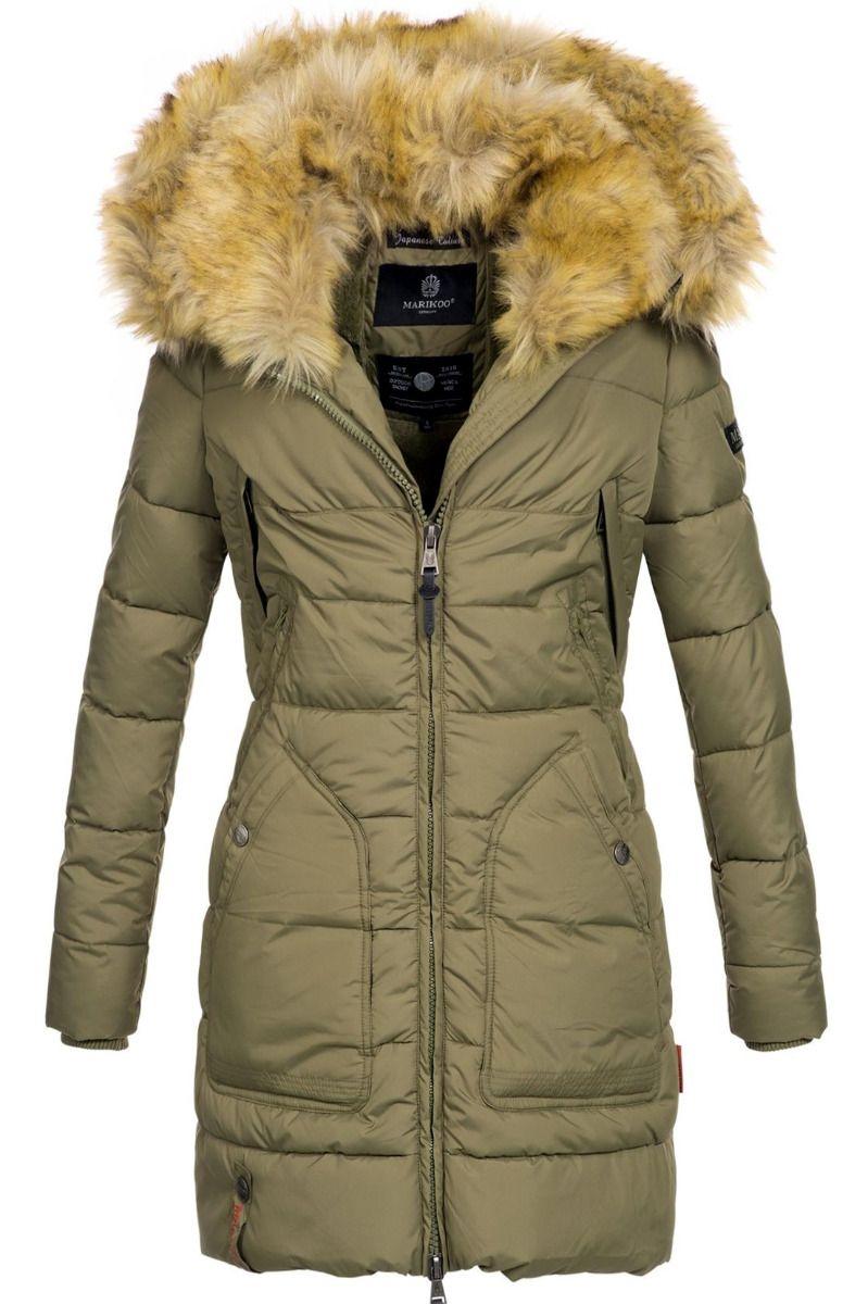 Bergen vinter jakke i Oliven Grøn