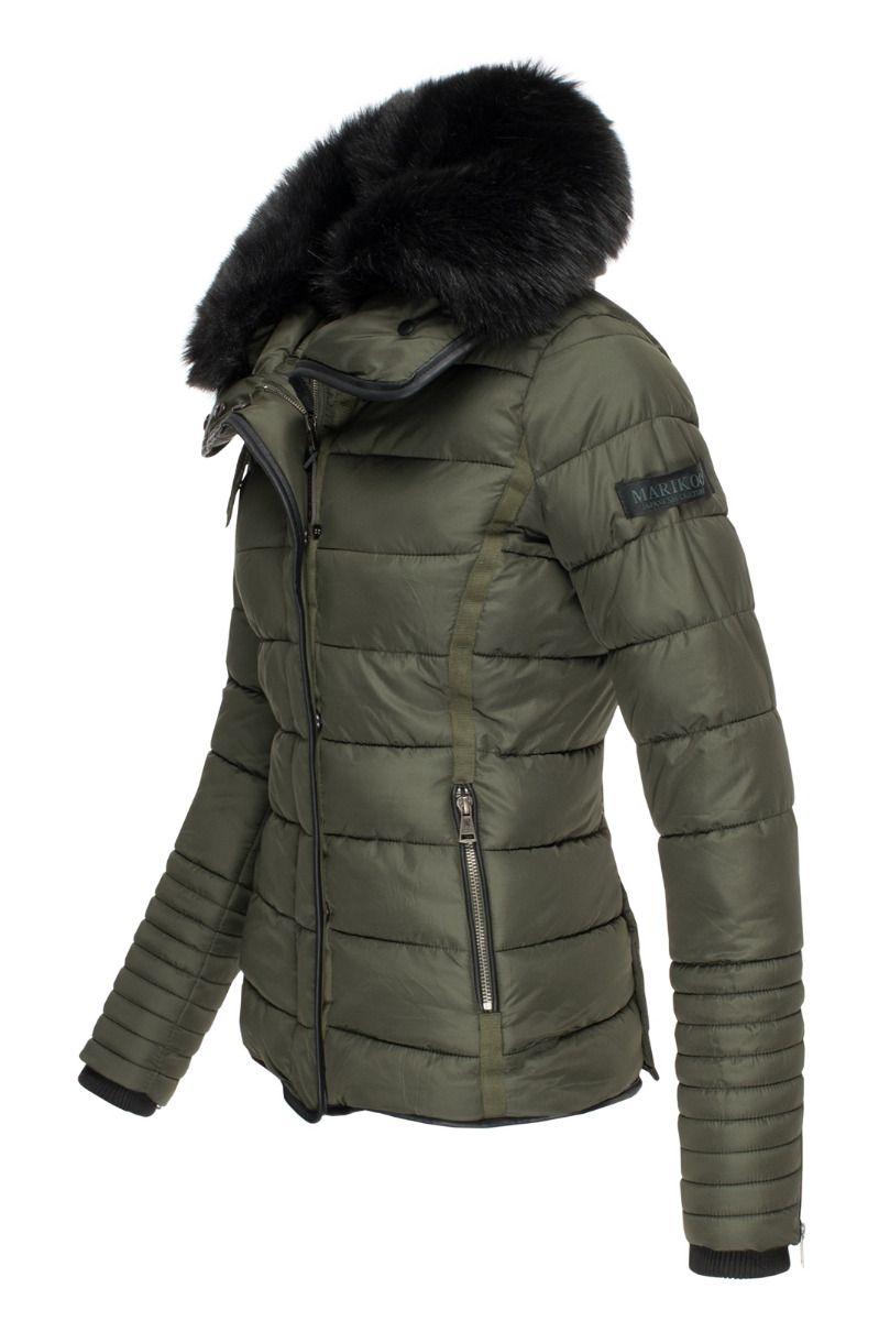 Dame vinter jakke Laureen Grøn