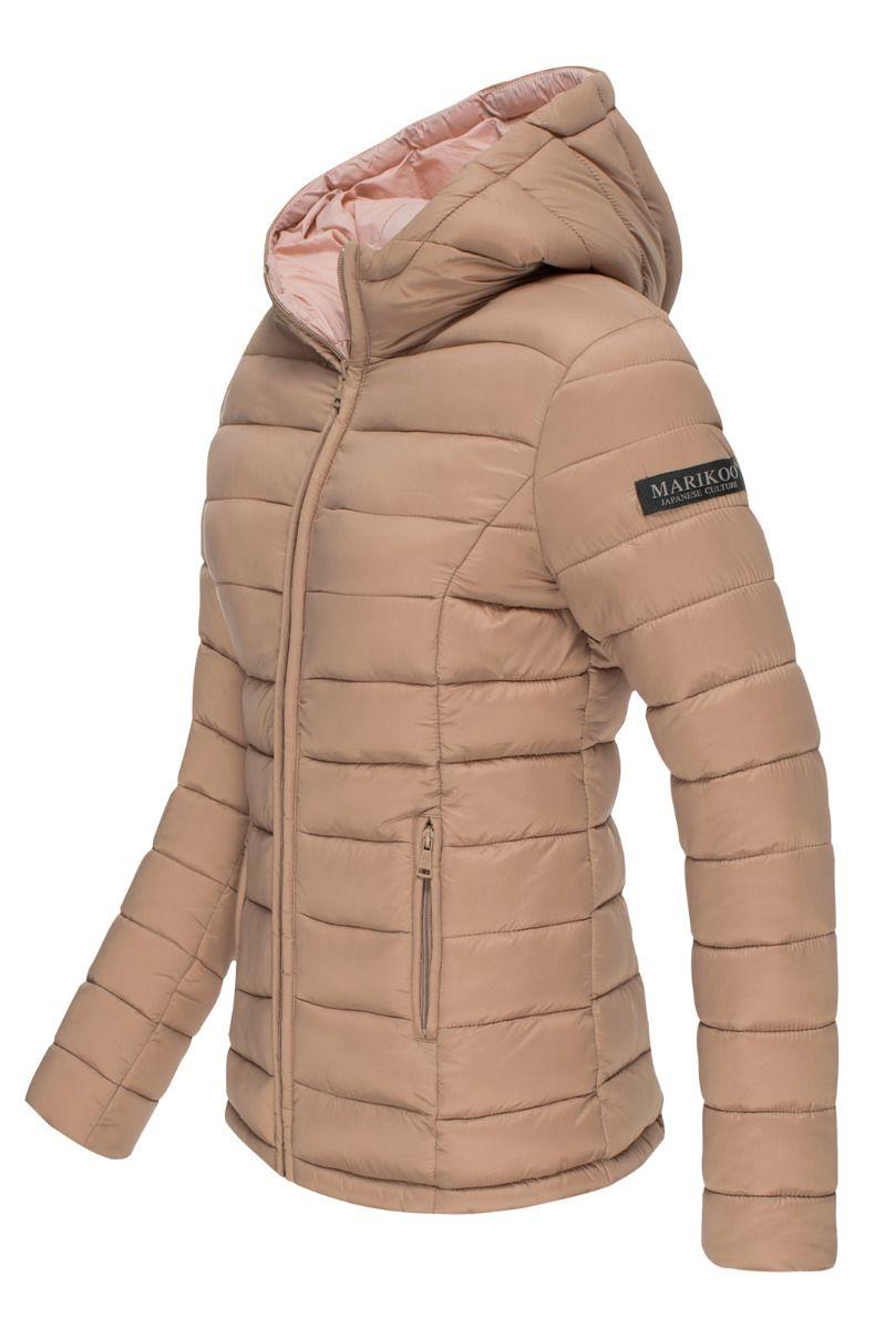 Lucy Let dun jakke med hætte i Taupe