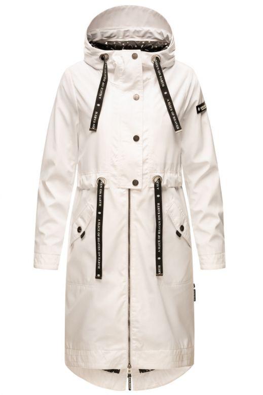 Dame Overgangs jakke i lang model Navahoo Josinaa i Hvid