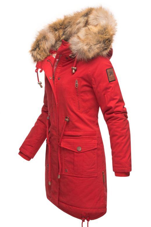 Dame Vinterjakke i Bomuld Rosin - Rød